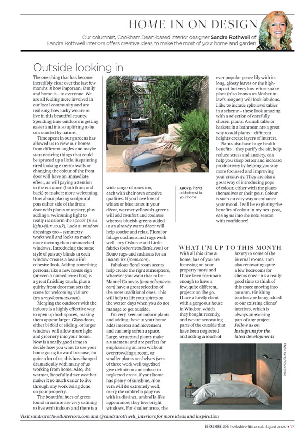 Berkshire Life Sandra Rothwell Column